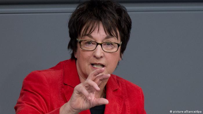 Bundestag Leistungsschutzrecht Brigitte Zypries (picture-alliance/dpa)