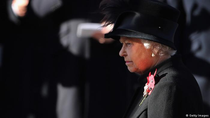A portrait of the Queen on Remembrance Day