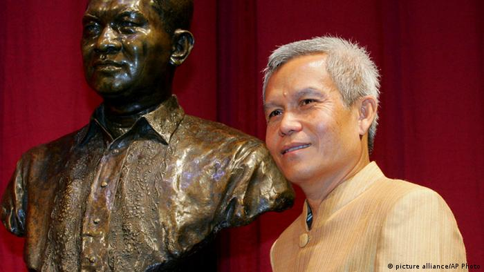 Sombath Somphon was the winner of the Ramon Magsaysay Award for Community Leadership in 2005 AP Photo/Bullit Marquez, File