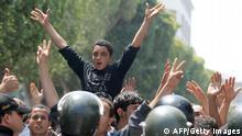 Tunis Tunesien Ausschreitungen Polizei
