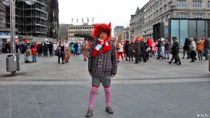 Chinese writer Ye Fu in costume in Cologne (Photo: Ye Fu)