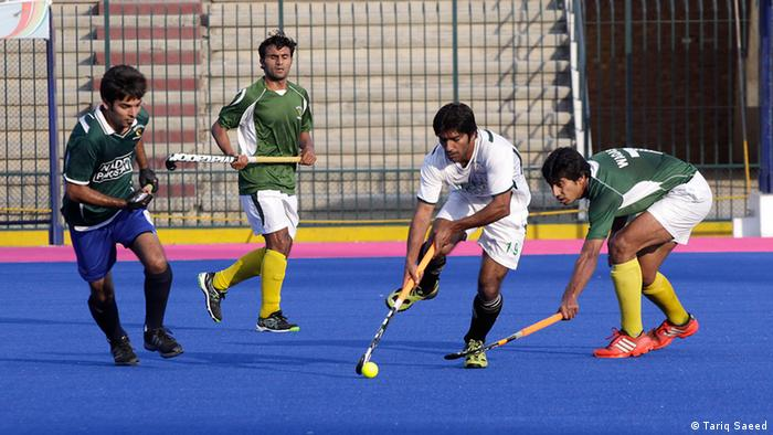 Hockey Pakistan Lahore Team Spieler und Trainer Nationales Hockeystadion