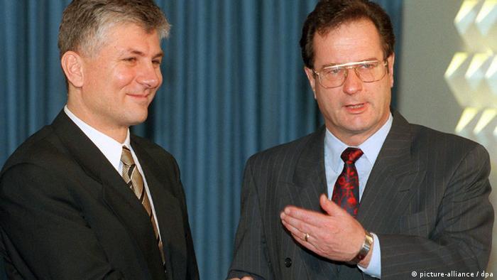 Sa srbijanskim premijerom Zoranom Đinđićem (januar, 1997.)