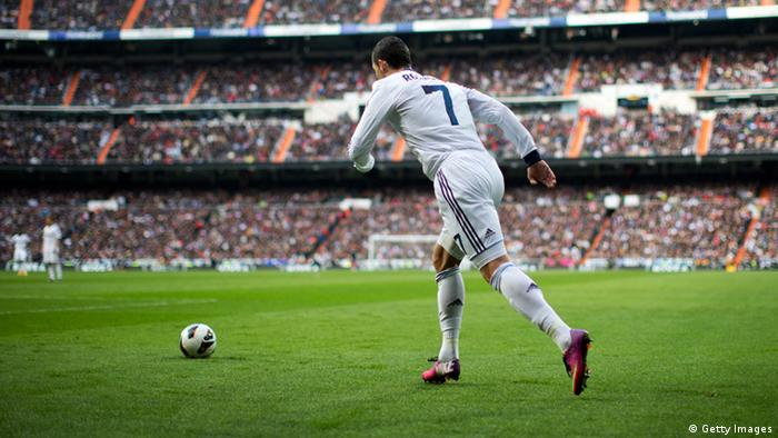 Cristiano Ronaldo im Bernabeu Stadion von Madrid (Photo by Jasper Juinen/Getty Images)
