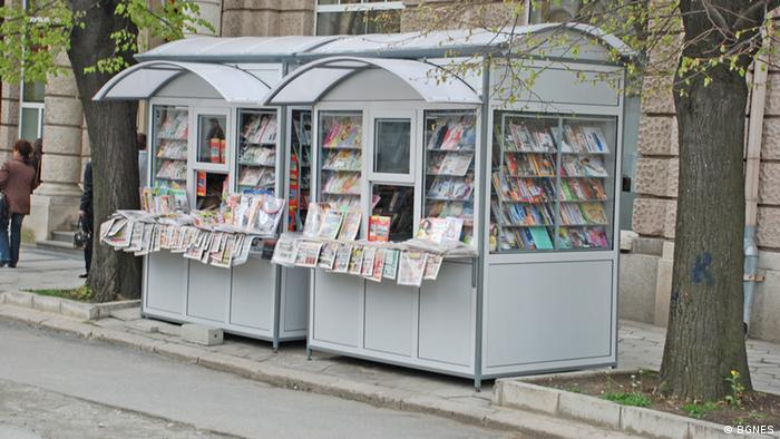 Zeitungsstand in Bulgarien