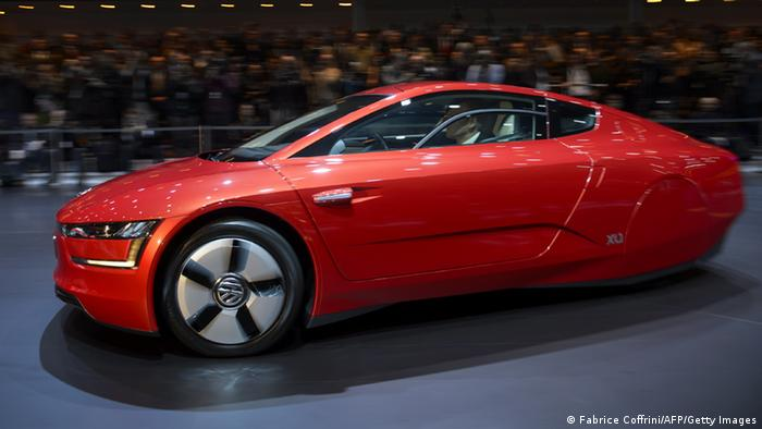A new Volkswagen hybrid XL1 model car is displayed FABRICE COFFRINI/AFP/Getty Images