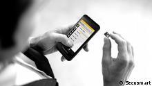 von der Cebit: Hochsicheres Smartphone Blackberry 10 mit einem Sicherheit-Chip von Secusmart Foto: Secusmart Frei zur Verwendung für Pressezwecke