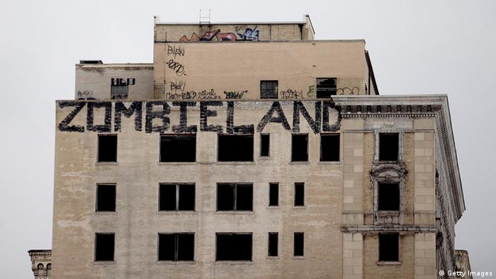 USA Detroit Leerstehende Häuser
