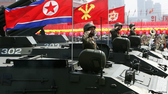 A military parade is held in Pyongyang, capital of the Democratic People s Republic of Korea (DPRK), on April 15, 2012.