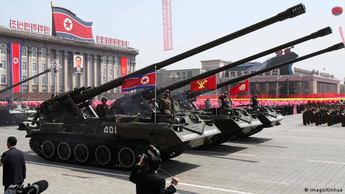 Copyright: imago/Xinhua (120415) -- PYONGYANG, Apr. 15, 2012 (Xinhua) -- A military parade is held in Pyongyang, capital of the Democratic People s Republic of Korea (DPRK), on April 15, 2012. The DPRK staged massive celebrations in Pyongyang s main square on Sunday with a grand military parade to mark the 100th anniversary of the birth of founding leader Kim Il Sung.(Xinhua/Zhang Li) (dtf) DPRK-PYONGYANG-MILITARY PARADE PUBLICATIONxNOTxINxCHN Gesellschaft Nordkorea Militär Jahrestag Geburtstag Parade Militärparade premiumd xbs x0x 2012 quer Aufmacher 57897448 Date 15 04 2012 Copyright Imago XINHUA Pyongyang Apr 15 2012 XINHUA a Military Parade IS Hero in Pyongyang Capital of The Democratic Celebrities S Republic of Korea DPRK ON April 15 2012 The DPRK staged Massive celebrations in Pyongyang S Main Square ON Sunday With a Grand Military Parade to Mark The 100th Anniversary of The Birth of Founding Leader Kim Il Recovery XINHUA Zhang left DPRK Pyongyang Military Parade PUBLICATIONxNOTxINxCHN Society North Korea Military Anniversary Birthday Parade Military Parade premiumd xbs x0x 2012 horizontal Highlight