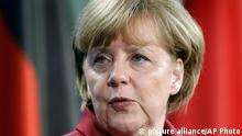 German Chancellor Angela Merkel speaks during a joint press conference with the President of Indonesia, Susilo Bambang Yudhoyono, unseen, as part of a meeting at the chancellery in Berlin, Germany, Tuesday, March 5, 2013. (AP Photo/Michael Sohn)