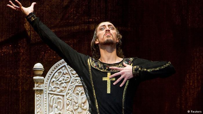 Pawel Dmitritschenko tanzt in der Rolle Iwan der Schreckliche im Bolschoi-Theater (Foto: Reuters)
