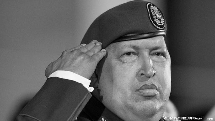 Venezuelan President Hugo Chavez salutes during a military ceremony in the National Army Academy in Caracas on November 6, 2011. AFP PHOTO / Leo RAMIREZ (Photo credit should read LEO RAMIREZ/AFP/Getty Images)