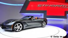 GENEVA, SWITZERLAND - MARCH 05: The new Chevrolet Corvette Stingray convertible is seen during the 83rd Geneva Motor Show on March 5, 2013 in Geneva, Switzerland. Held annually with more than 130 product premiers from the auto industry unveiled this year, the Geneva Motor Show is one of the world's five most important auto shows. (Photo by Harold Cunningham/Getty Images)