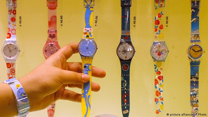 Swatch models, Copyright: picture alliance/AP Photo
