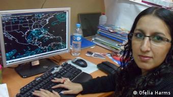 Lluvia Gómez Texon, Meteorologist from BUAP University in Mexico (Copyright: Ofelia Harms)