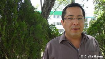 Antonio Espejel Claudio at the Agricultural Ministry of Puebla, Mexico (Copyright: Ofelia Harms)