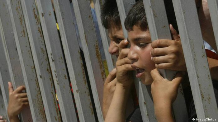 Palestinian children attend a protest calling for ending the siege on Gaza Strip and opening the crossings, in Gaza City, June 20, 2010. (Xinhua)(axy) PUBLICATIONxNOTxINxCHN Society politics Protest Children End Blockade Border premiumd Kbdig 2010 horizontal