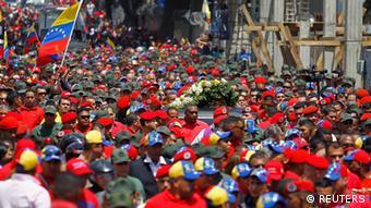 Venezuela Hugo Chavez Trauerzug in Karakas