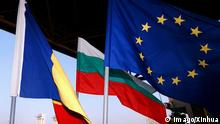 Bulgaria, Romania and EU flags (imago/Xinhua)