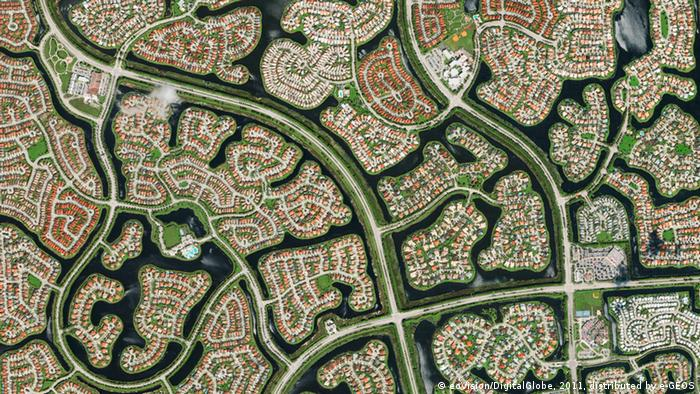 Die Planstadt Weston in Florida (Foto: eoVision/DigitalGlobe)
