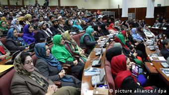 Weibliche abgeordnete im afghanischen Parlament (Foto:picture alliance/dpa )