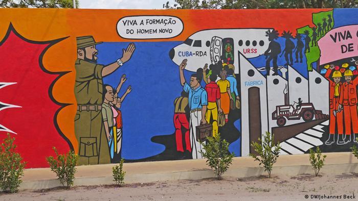 Wandgemälde zu Ex-Präsident Samora Machel in Lichinga