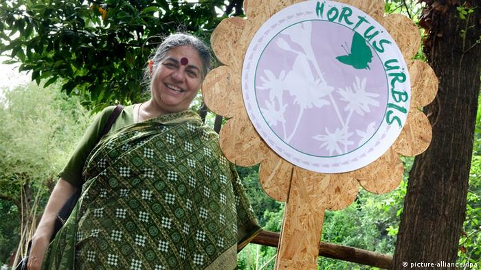 Vandana Shiva outdoors in Rome