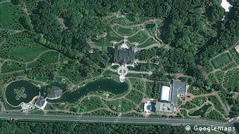 Резиденция Януковича, снимок с Googlemaps