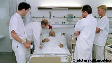 Ärzte-Visite im Krankenhaus