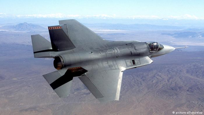 FILE -This undated photo provided by Northrop Grumman Corp., shows a pre-production model of the F-35 Joint Strike Fighter. The Pentagon on Friday grounded its fleet of F-35 fighter jets after discovering a cracked engine blade in one plane. The problem was discovered during what the Pentagon called a routine inspection at Edwards Air Force Base, California, of an F-35A, the Air Force version of the sleek new plane. The Navy and the Marine Corps are buying other versions of the F-35, which is intended to replace older fighters like the Air Force F-16 and the Navy F/A-18. All versions , a total of 51 planes , were grounded Friday, Feb. 22, 2013 pending a more in-depth evaluation of the problem discovered at Edwards. None of the planes have been fielded for combat operations; all are undergoing testing.AP Photo/Northrop Grumman, File) no sales