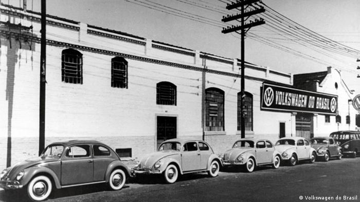 Fábrica da Volkswagen em São Paulo, em 1953