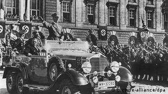 Adolf Hitler and invasion of Austria with the German Wehrmacht in 1938
