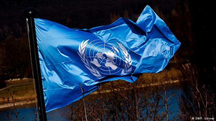 Vereinte Nationen Flagge Symbolbild