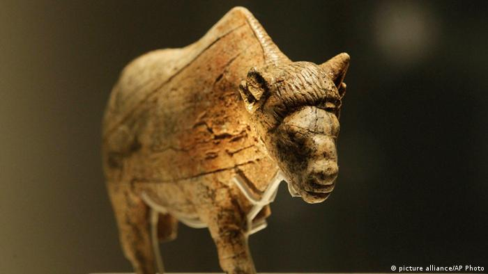 Sculpture of an ancient bison