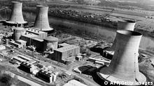 THREE MILE ISLAND, UNITED STATES: View the site of the Three Mile Island nuclear plant 28 March 1979. The Governor of Pennsylvania ordered the evacuation of the site after nuclear activity was detected following an accident at the Nuclear plant (background). (Photo credit should read AFP/AFP/Getty Images)