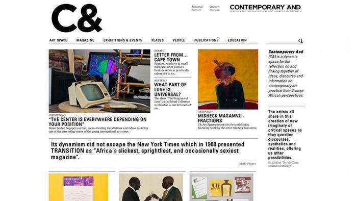 Screenshot der Seite Contemporary and