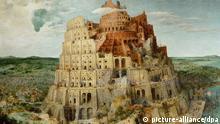 Ausschnitt Gemälde Turmbau zu Babel Brueghel
