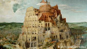 Ausschnitt Gemälde Turmbau zu Babel von P.Brueghel d.Ae.