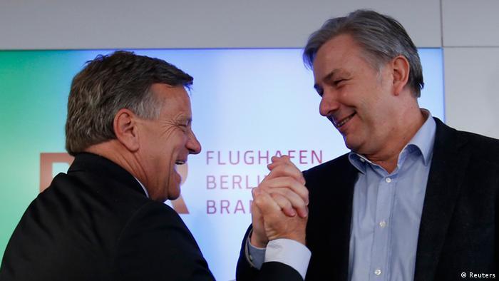 Ex-BER-Chef Hartmut Mehdorn und Ex-Bürgermeister von Berlin Klaus Wowereit