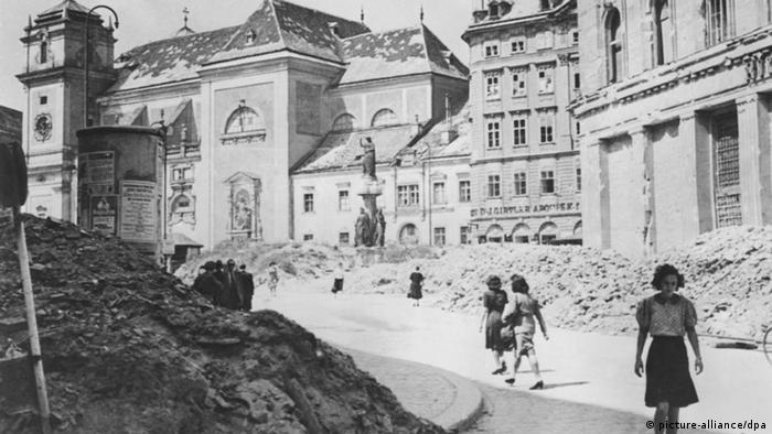 Viena en 1945.
