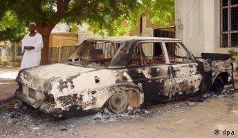Sudan, Karthun Unruhen nach dem Tod des Vizepräsidenten John Garang