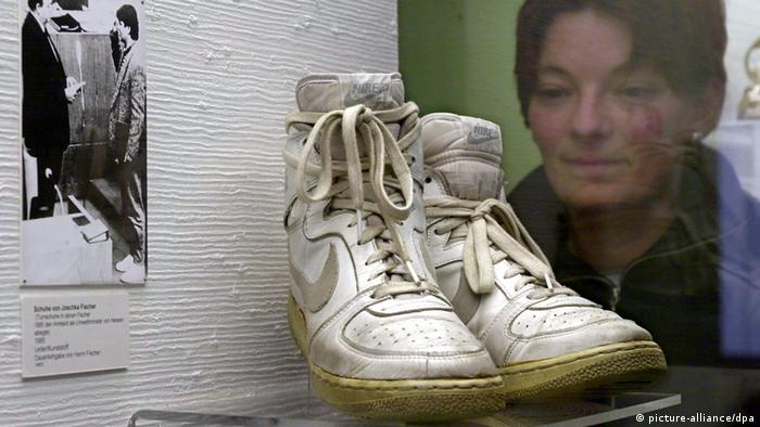 Joschka Fischer's sports shoes (Copyright: picture-alliance/dpa)