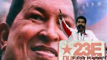 Venezuela Hugo Chavez und Nicolas Maduro Vizepräsident