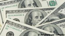 Symbolbild Geldsegen Dollar