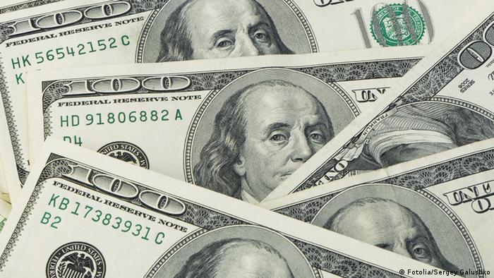 Symbolbild Geldsegen Dollar (Fotolia/Sergey Galushko)