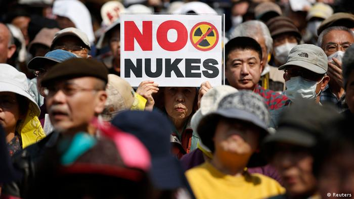 Anti-nuclear protesters attend a rally in Tokyo March 10, 2013, a day before the second-year anniversary of the March 11, 2011 earthquake and tsunami that killed thousands and set off a nuclear crisis (Photo: REUTERS/Issei Kato)