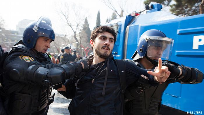Aserbaidschan Demonstration in Baku
