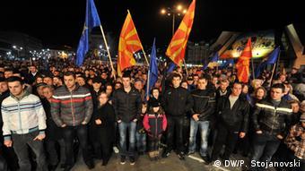 Mazedonien Wahlveranstaltung Opposition SDSM