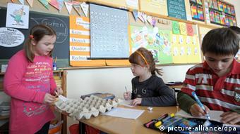 Ученики инклюзивной школы в Бургебрахе